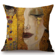 Load image into Gallery viewer, Cushion Cover - Golden Tears Klimt