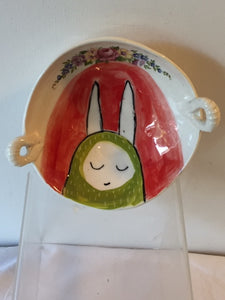Ceramic Bowl - Green Ears