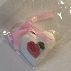 Small Heart - Hanging Plaster Rose