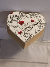 Load image into Gallery viewer, Small Heart Shaped Trinket Box - Hearts and Birds