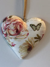 Load image into Gallery viewer, Heart Shaped Trinket Box - Roses and Butterfly