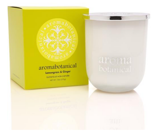 Botanical Wax Candle - Lemongrass & Ginger 375g