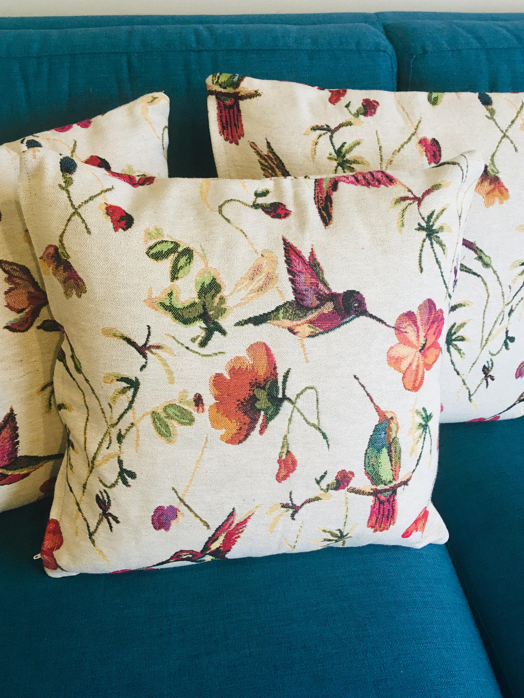 Hummingbird Garden Cushion Covers - LIMITED EDITION