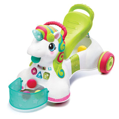 Smilin' Shimmer, 3-in-1 Sit, Walk & Ride Unicorn