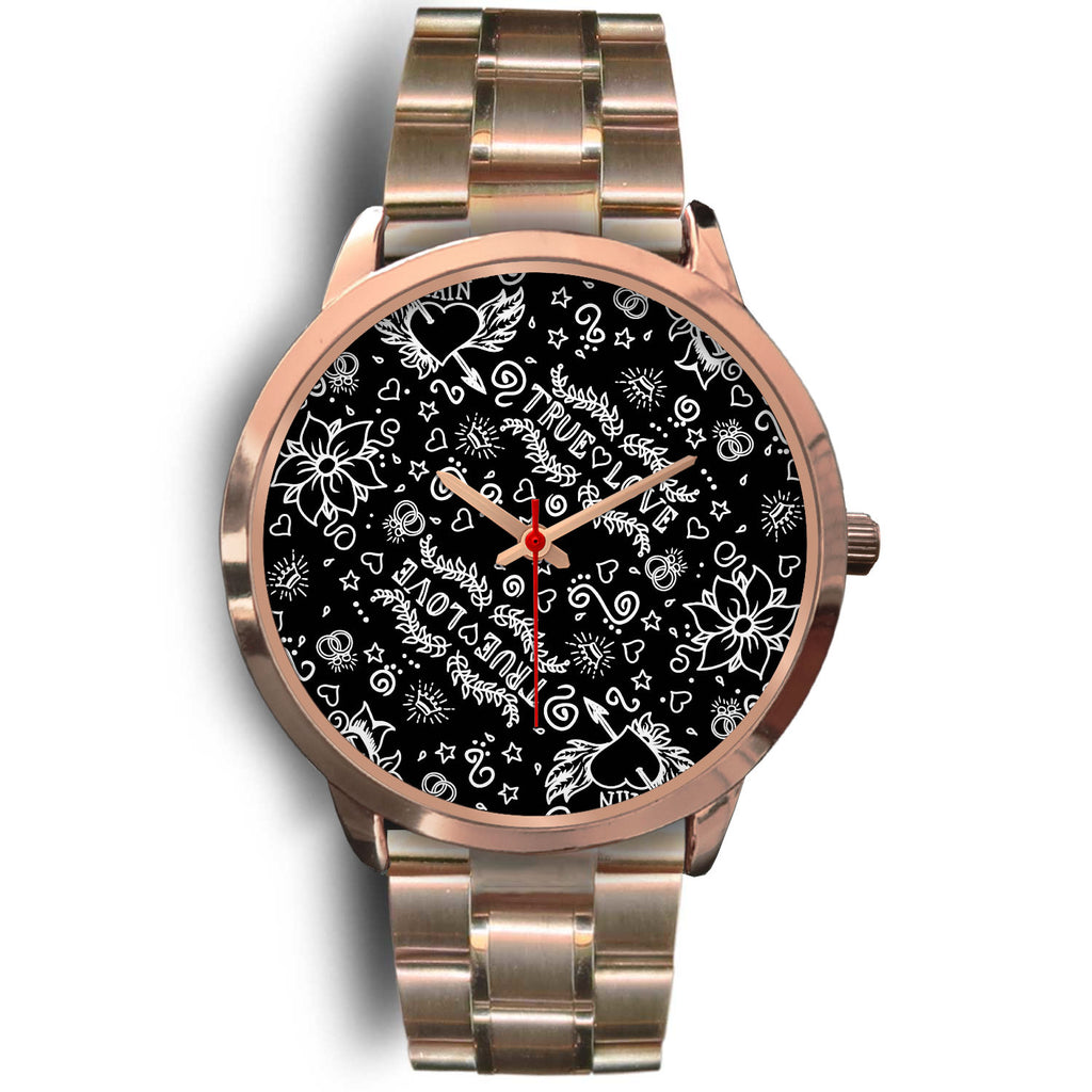 9a470d06c Classic Tattoo Print Rose Gold Watch – Inked Styles