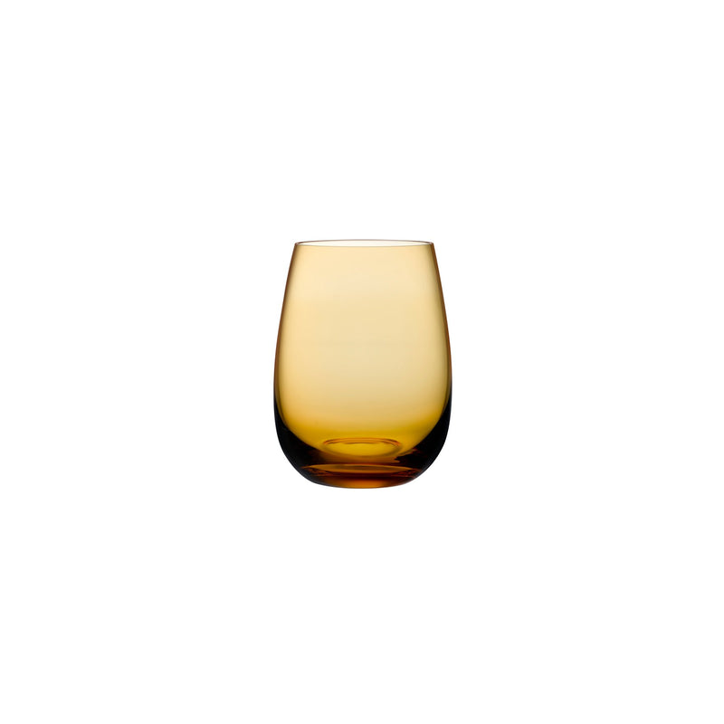 Nude Glass Colored U glass tumbler in amber