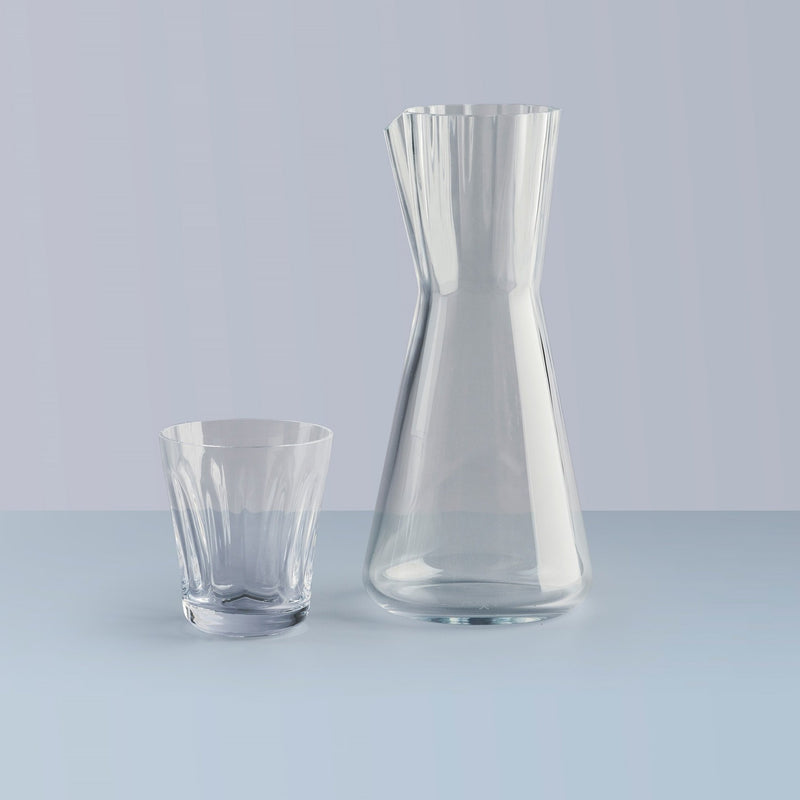 NUDE Lady Carafe and tumbler in clear leadfree crystal