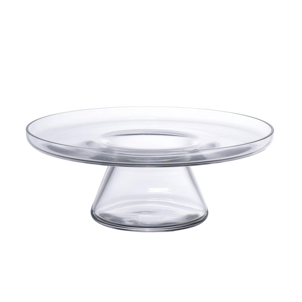 NUDE Bloom cakestand holder bottom in clear leadfree crystal