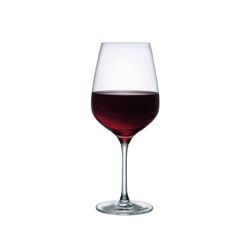 NUDE Refine wine glass in leadfree crystal with red wine