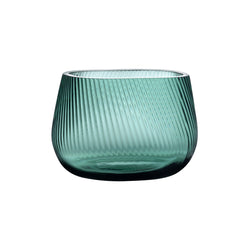 Opti Vase medium by Defne Koz for NUDE in smoked green