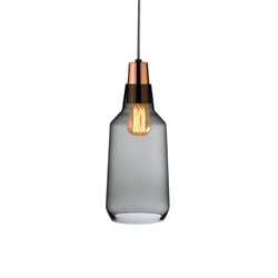 Mono@Lamp Smoke with Copper Socket Tall