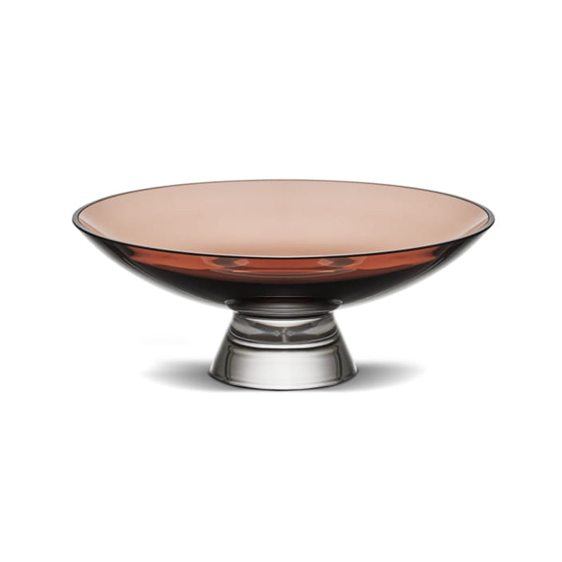 Nude Glass Silhouette Bowl large in caramel lead-free glass