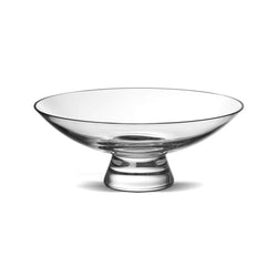 Nude Glass Silhouette Bowl large in clear lead-free glass