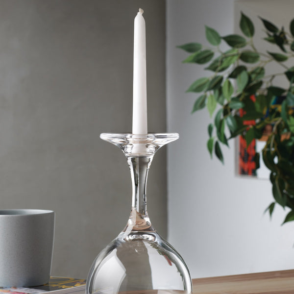 Look Down@Candle Holder in Wine Glass Shape