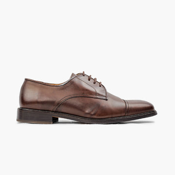 Derby homme cuir marron confort