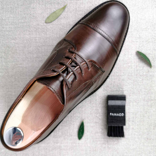 derby cognac homme confortable