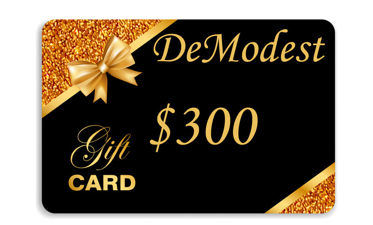 The DeModest Gift Card