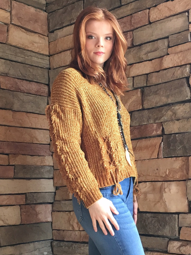 Chenille Sweater - Gold