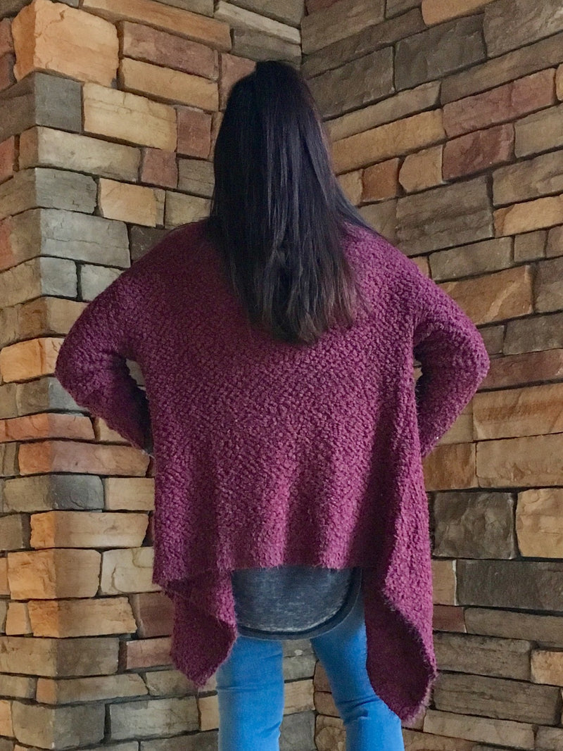 Waterfall Sweater - Plum
