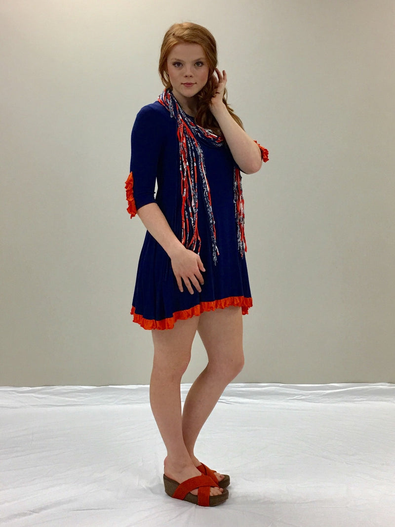 Swing Dress-Navy