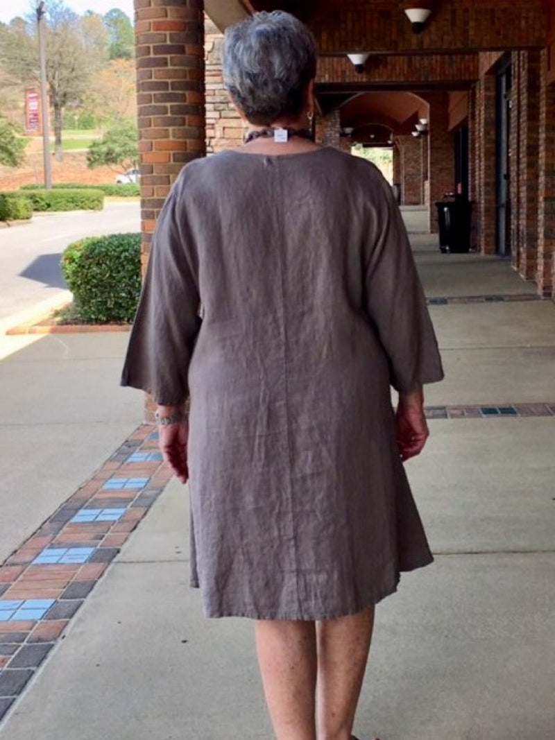 Linen Dress - Taupe