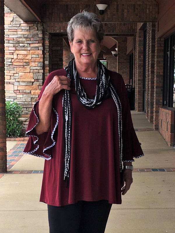 Gameday Tunic-Burgandy