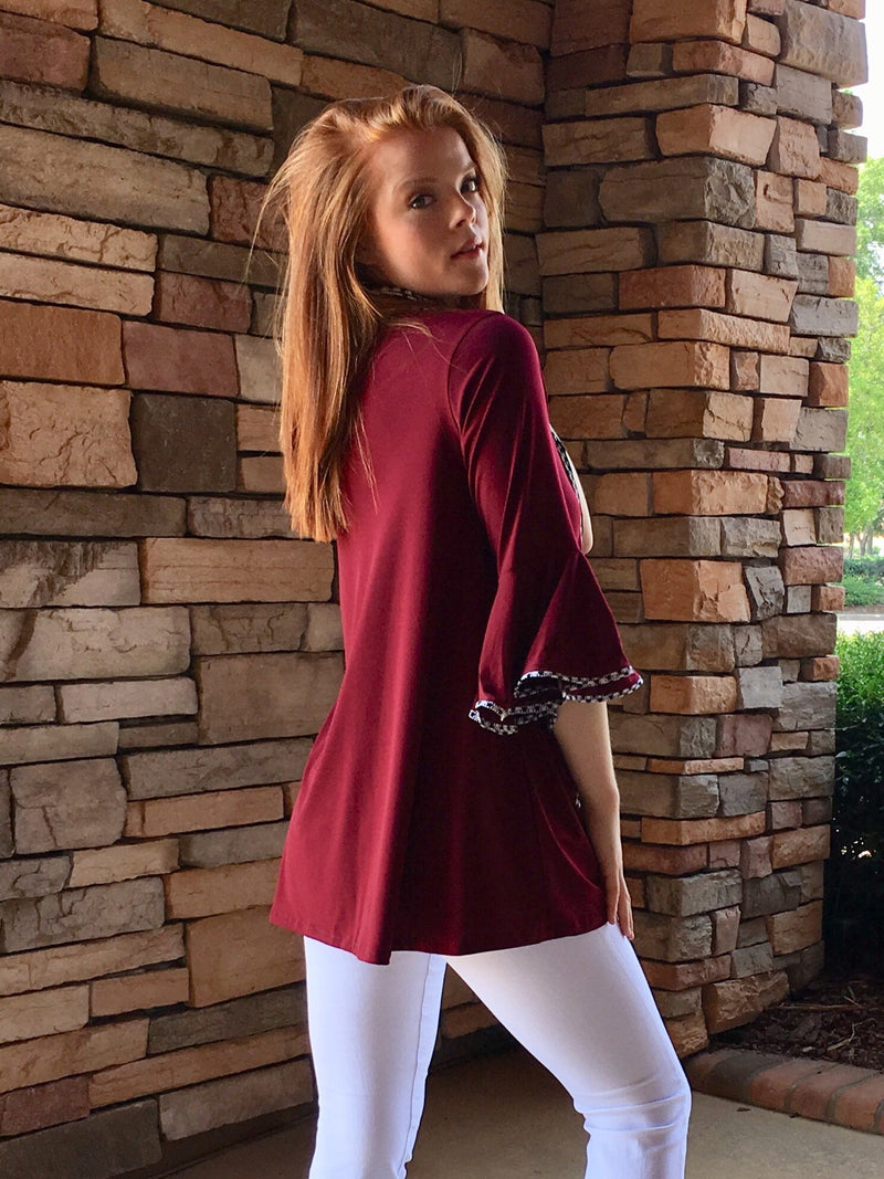 Gameday Tunic-Red