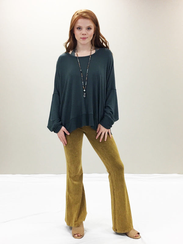 Bell Bottom Pants-Mustard