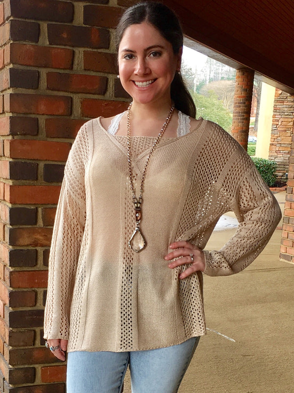 Open Back Tunic - Taupe