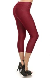 Capri Jegging-Burgandy