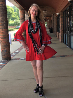 Gameday Dress-Red
