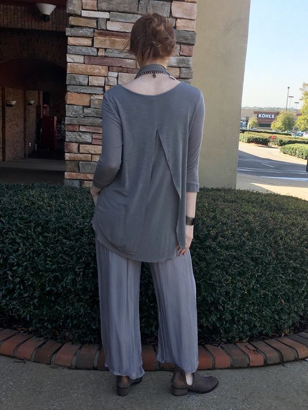 Silk Pants- Grey