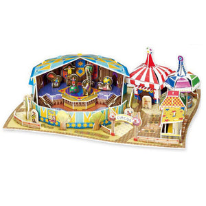 3D Puzzle Circus Model Paper Assembly