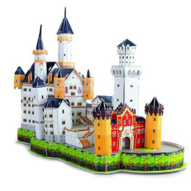 3D Puzzle Neuschwanstein Castle Model Paper Assembly