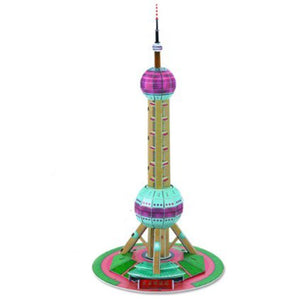 3D Puzzle Shanghai Oriental Pearl Tower Model Paper Assembly