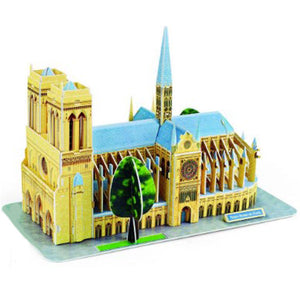 3D Puzzle Notre Dame de Paris Model Paper Assembly