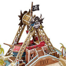 Load image into Gallery viewer, 3D Puzzle Pirate Ship Model Paper Assembly