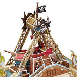 3D Puzzle Pirate Ship Model Paper Assembly