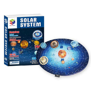 3D Puzzle Solar System Model Paper Assembly