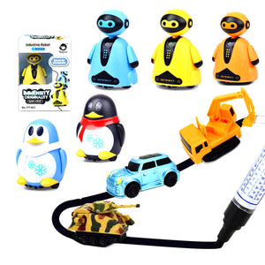 Automatic Induction Walk Along the Line Penguin Toy