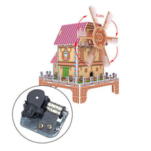 Load image into Gallery viewer, DIY 3D Puzzle Windmill Cabin Model