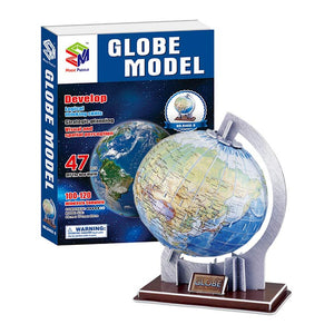 3D Puzzle Globe Model Paper Assembly