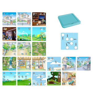 Cartoon Hunter Game Puzzle Interactive Board Game