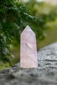 Large Rose Quartz Point