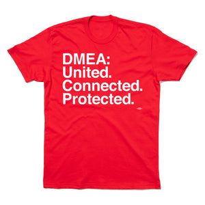 DMEA: United. Connected. Protected. (Red)