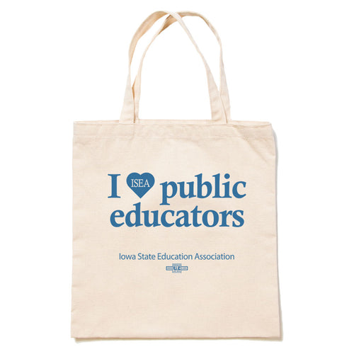 I HEART PUBLIC EDUCATORS TOTE BAG