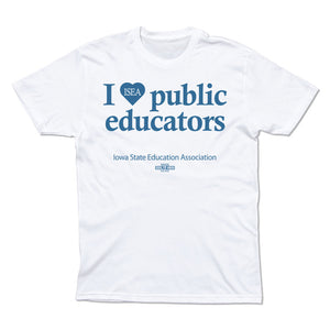 I HEART PUBLIC EDUCATORS T-SHIRT