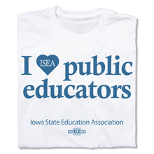Load image into Gallery viewer, I HEART PUBLIC EDUCATORS T-SHIRT