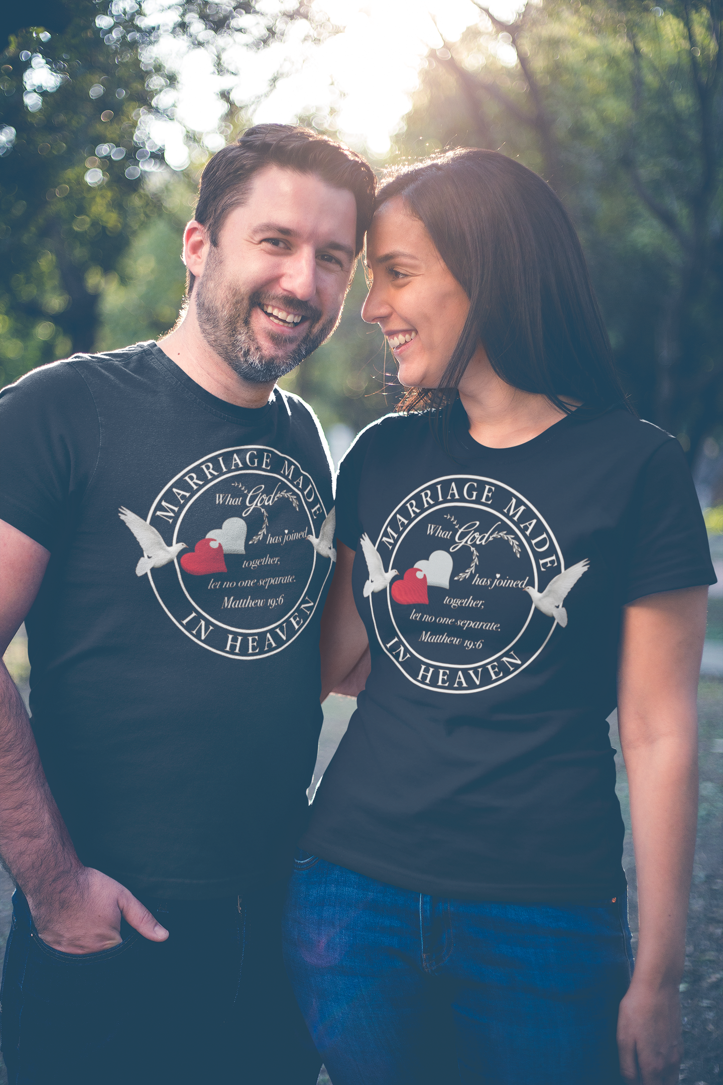 Marriage Made in Heaven - Couples T-Shirt