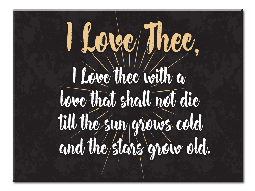 I Love Thee (Canvas Wall Art 5 Panel (40x30))
